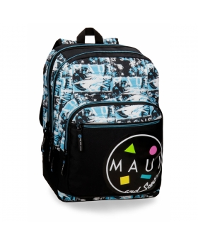 Maui and Sons Mochila escolar Maui Shark 44cm adaptable a carro Multicolor - 1