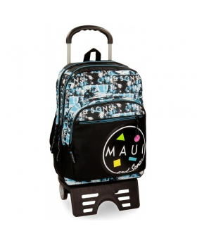 Maui and Sons Mochila escolar Maui Shark 44cm con carro Multicolor - 1
