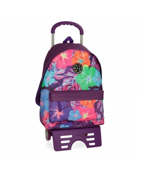 Maui and Sons Mochila escolar Maui Paradise  con carro Multicolor - 1