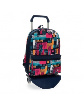 Mochila con carro  Pineapple  Movom Multicolor 42cm | Maletia.com