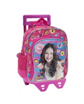 Soy Luna Mochila preescolar bolsillo frontal con carro Yo soy Luna Rosa - 1