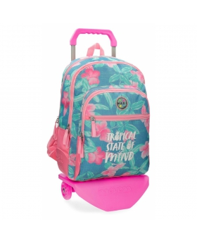 Maui and Sons Mochila doble compartimento con carro Maui Tropical State Multicolor - 1