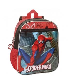Spider-Man Mochila preescolar adaptable a carro Spiderman City Multicolor - 1