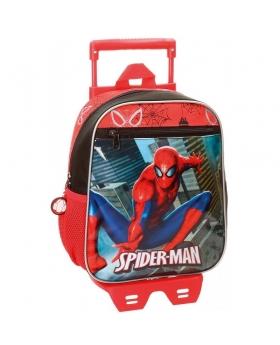 Spider-Man Mochila preescolar con carro Spiderman City Multicolor - 1