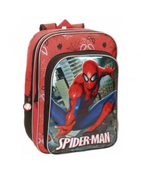 Spider-Man Mochila doble compartimento adaptable a carro Spiderman City Multicolor - 1