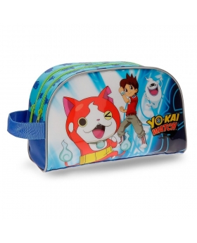 Yokai Watch Neceser Yo Kai Watch Nathan doble compartimento adaptable a trolley Azul - 1