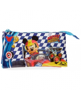 Mickey Mouse Estuche Mickey Race tres compartimentos Multicolor - 1
