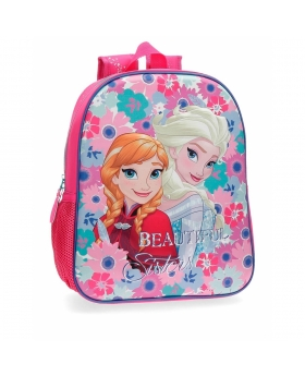 Frozen Mochila preescolar  Flowers  adaptable a carro Frontal 3D Multicolor - 1