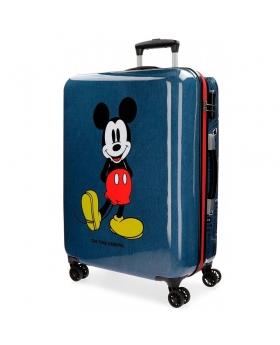 Mickey Mouse Maleta mediana Mickey Blue rígida  4R Azul - 1
