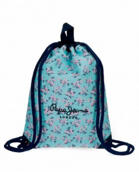 Pepe Jeans Denise Gymsack Azul Pacífico 0
