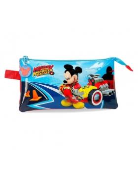 Mickey Mouse Estuche tres compartimentos Lets Roll Mickey Multicolor - 1