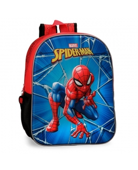 Spider-Man Mochila  frontal 3D Spiderman Black Multicolor - 1