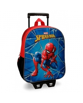 Spider-Man Mochila  frontal 3D con carro Spiderman Black Multicolor - 1