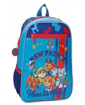 Patrulla Canina Mochila preescolar adaptable a trolley La  Help Azul - 1