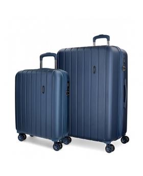 Movom Juego de maletas  Wood 55- Marino Azul - 1