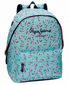 Pepe Jeans Denise Mochila adaptable Azul Pacífico 0
