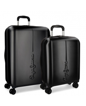 Pepe Jeans Juego de maletas  Cambridge  rígidas 55- Negro - 1