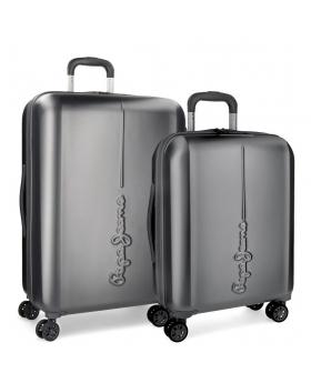 Pepe Jeans Juego de maletas  Cambridge Antracita rígidas 55- Gris - 1