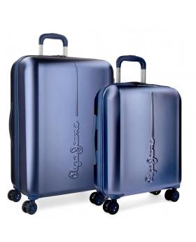Pepe Jeans Juego de maletas  Cambridge  rígidas 55- Azul - 1
