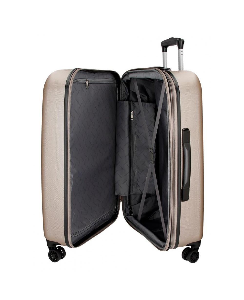 215654812 Juego de maletas rígidas 55- Riga Champagne Movom Beige 70cm ...