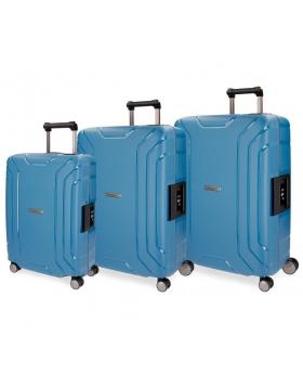 Movom Juego de maletas  Newport  rígidas 55-65- Azul - 1