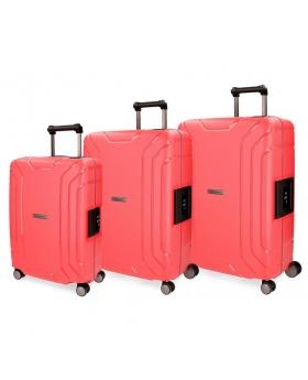 Movom Juego de maletas  Newport  rígidas 55-65- Rojo - 1