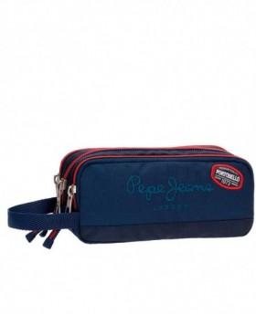 Estuche escolar Pepe Jeans Kesington Azul - 22cm | Maletia.com