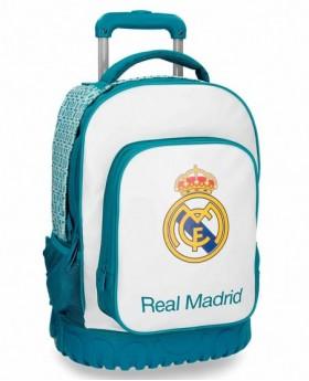 Real Madrid Leyenda Mochila con Ruedas Azul Pacífico