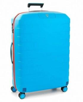 Maleta grande Roncato - Box 2.0 Azul Pacífico/Naranja | Maletia