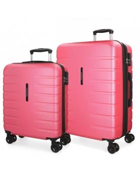 Movom Juego de 2 maletas rígidas 55-69  Turbo rosa Rosa - 1