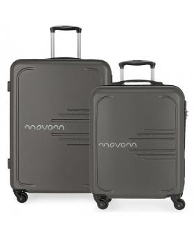Movom Juego de 2 maletas rígidas 55-69  Flash gris Gris - 1