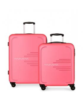 Movom Juego de 2 maletas rígidas 55-69  Flash rosa Rosa - 1