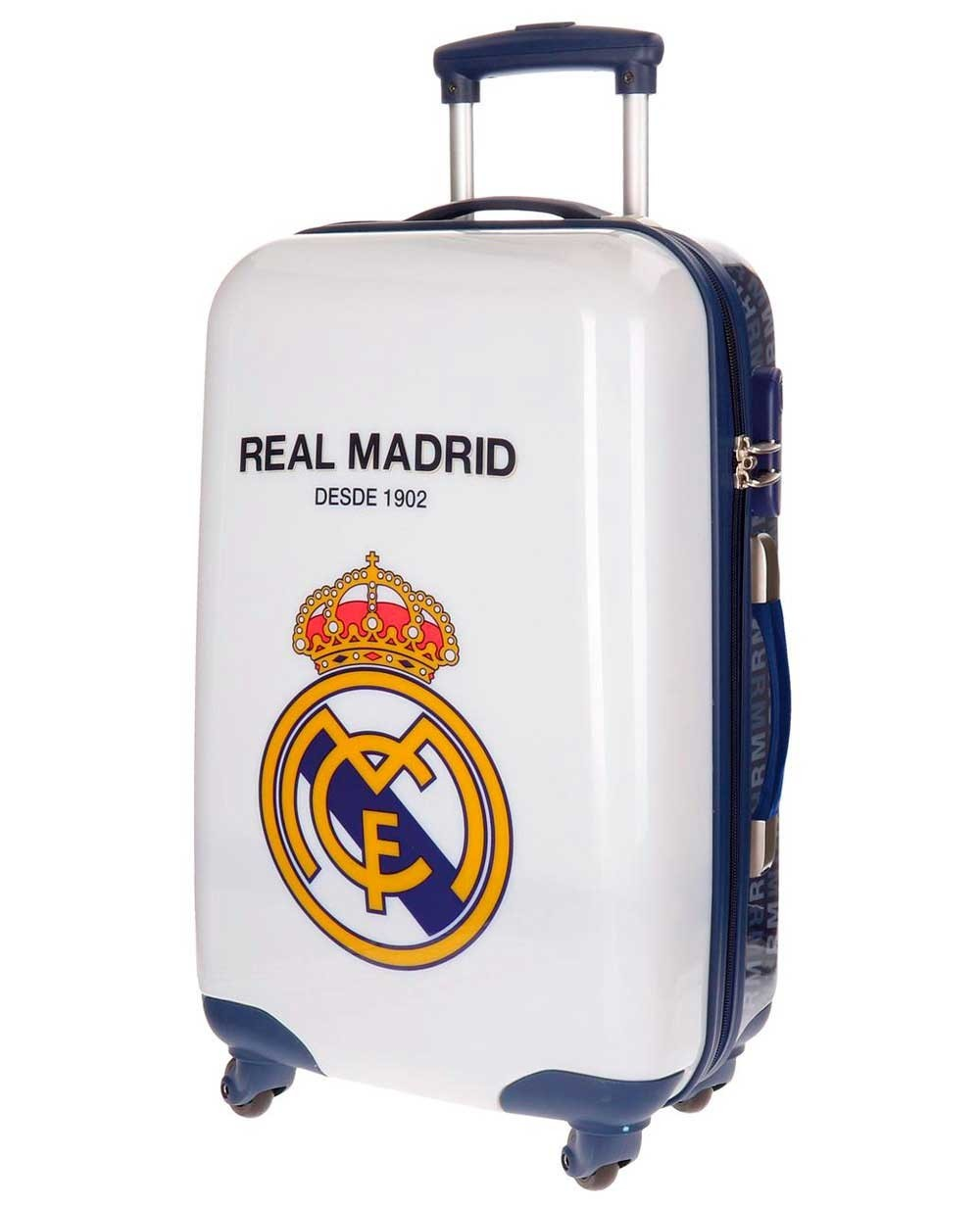 Real Madrid RM 1902 Maleta mediana Blanca 0