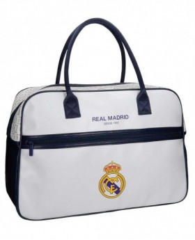 Real Madrid White RM Bolsa de Viaje Blanca 0