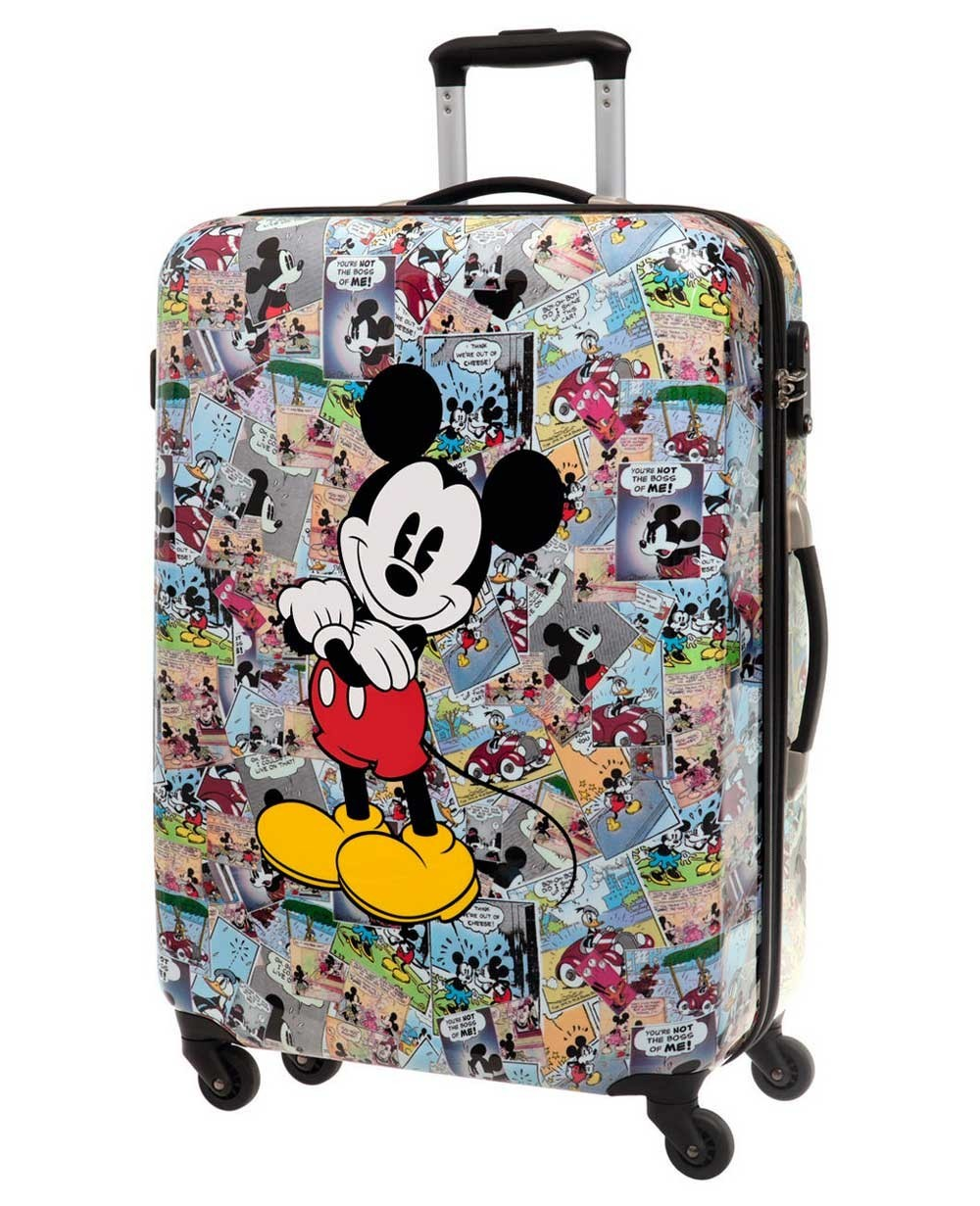 Disney Mickey Comic Maleta mediana Blanca 0