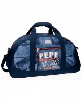 Bolsa de Viaje Pepe Jeans Dales JR Azul - 50cm | Maletia.com