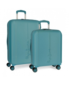 Pepe Jeans Juego de maletas  Glasgow  Mar rígidas 55- Azul - 1
