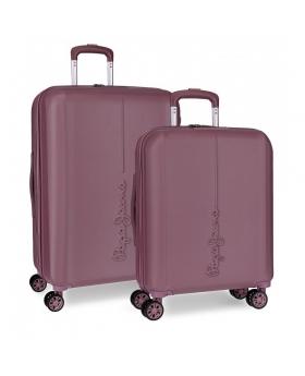 Pepe Jeans Juego de maletas  Glasgow Burdeos rígidas 55- Rojo - 1