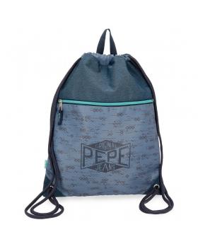 Pepe Jeans Mochila saco  Pierce con bolsillo Azul - 1