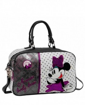 Bolsa de Viaje Disney Minnie Bows Blanca - 37cm | Maletia.com