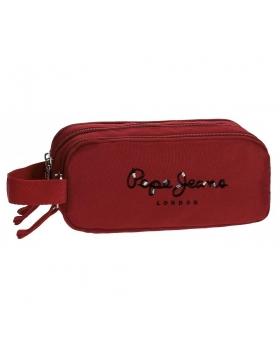 Pepe Jeans Estuche  Harlow Roja triple compartimento Rojo - 1