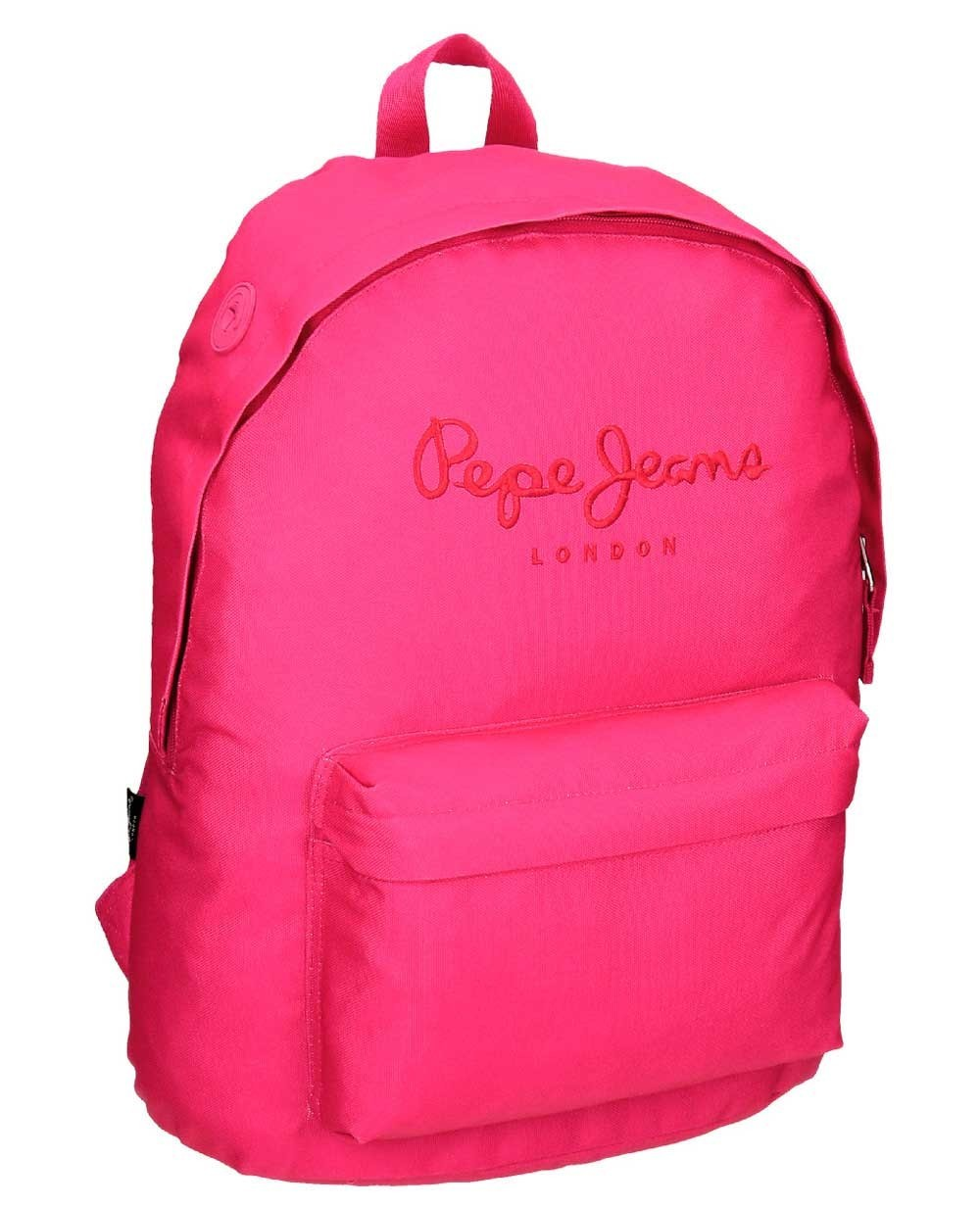 Pepe Jeans Plain Color Mochila adaptable Fucsia (Foto )