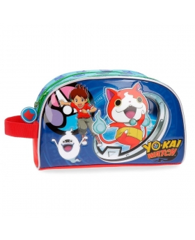 Yokai Watch Neceser Yo Kai Watch doble compartimento adaptable a trolley Azul - 1