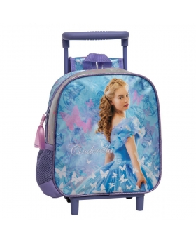 Princesas Mochila preescolar con carro Cinderella azul Multicolor - 1