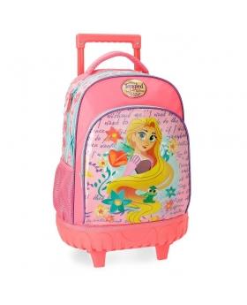 Princesas Mochila con ruedas Rapunzel Multicolor - 1