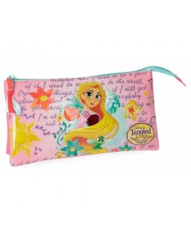 Princesas Estuche Rapunzel tres compartimentos Multicolor - 1