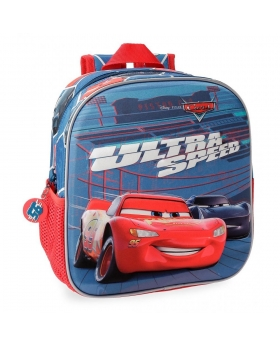 Cars Mochila Preescolar  Ultra Speed  Frontal 3D Multicolor - 1