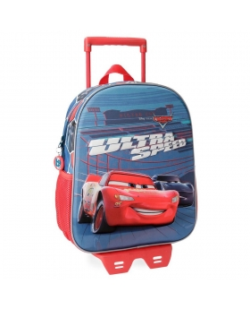 Cars Mochila Preescolar  Ultra Speed  con carro Frontal 3D Multicolor - 1
