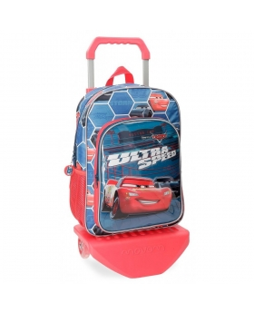 Cars Mochila  Ultra Speed  con carro Multicolor - 1