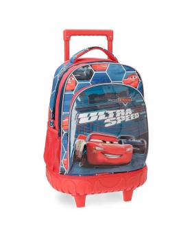 Mochila con ruedas  Ultra Speed Cars Multicolor 43cm | Maletia.com